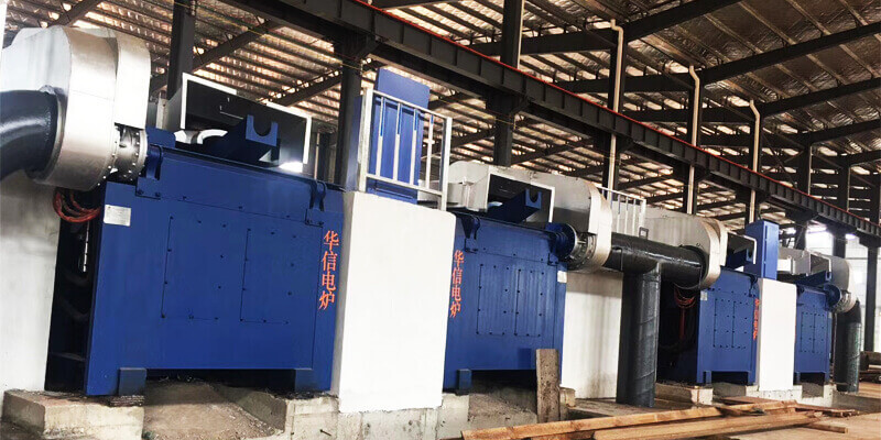 1T/700KW Induction Melting Furnace with two furnace bodies in Turkey